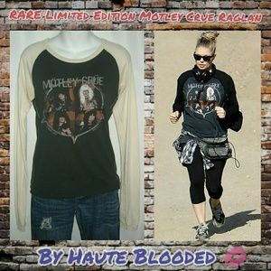 Rare Collectible Trunk LTD Motley Crue Raglan Sz M